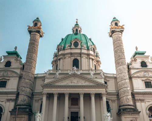 The Karlskirche in Vienna, Austria