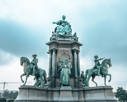 The Maria Theresien Platz in Vienna, Austria