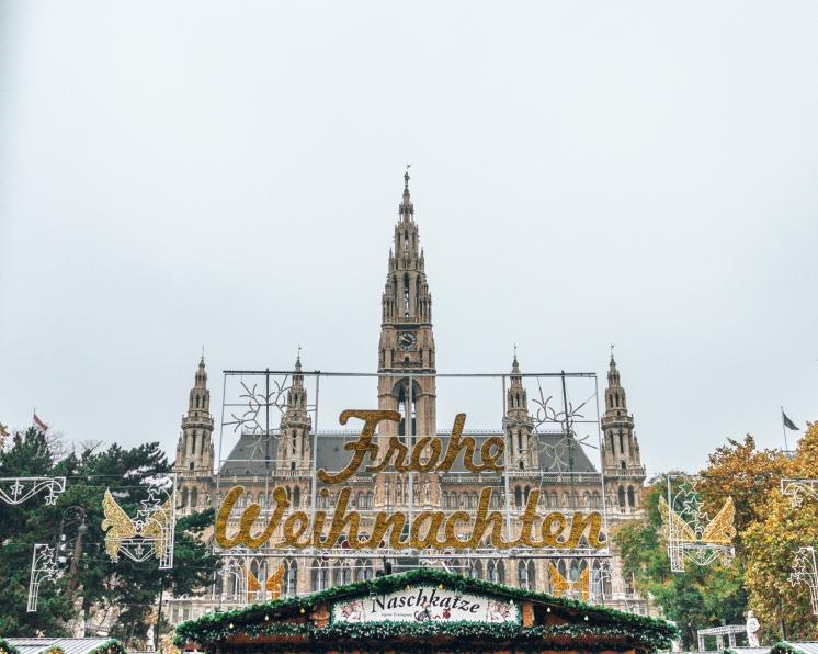 The Parliament building in Vienna, Austria