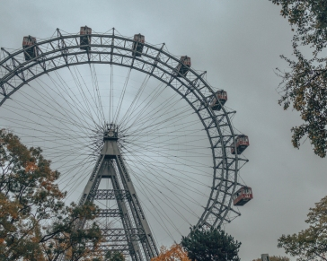 The famous Pratter ferris wheel in Vienna, Austria