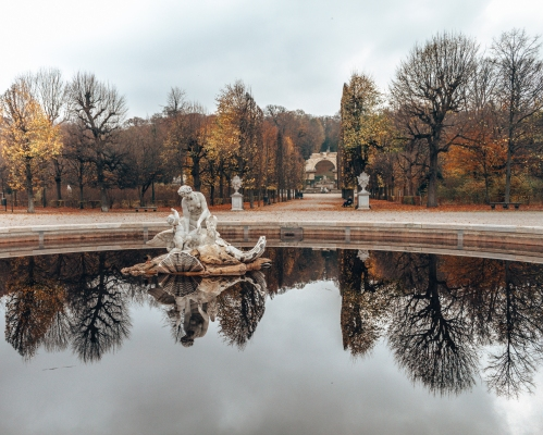 See the fountains in the Schönbrunn Palace in Vienna, Austria