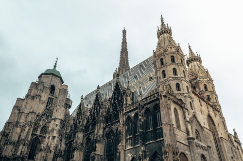 The famous St-Stephen's Cathedral in Vienna, Austria