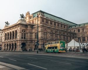 The State Opera House in Vienna, Austria