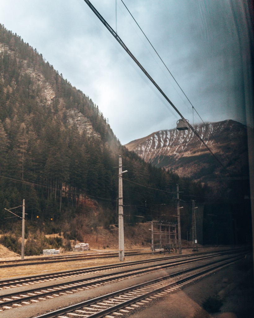 Passing by Austrian mountains