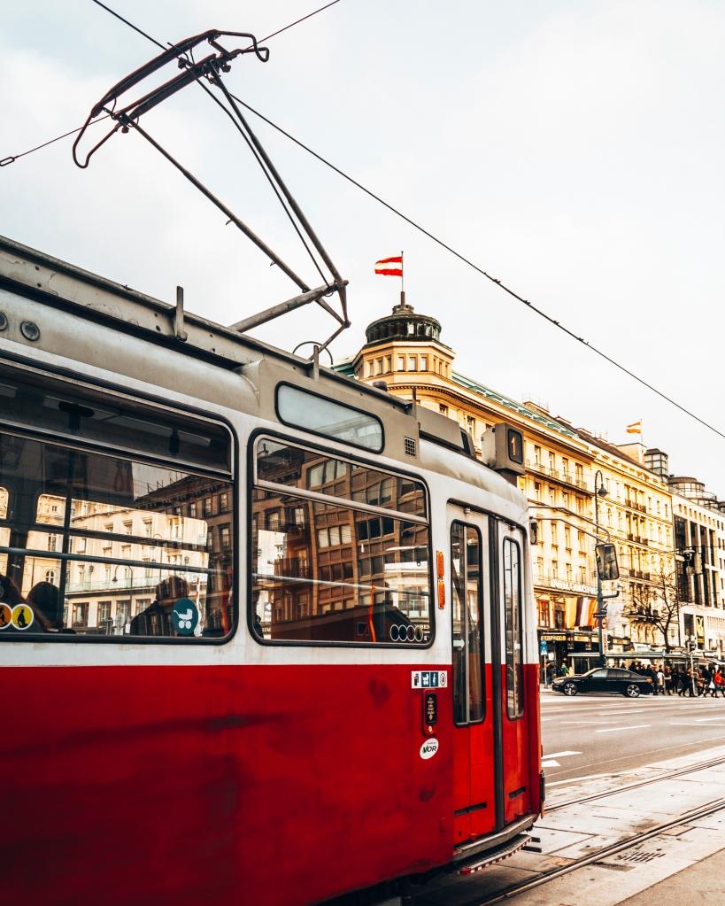 Catch a tram in Vienna, Austria