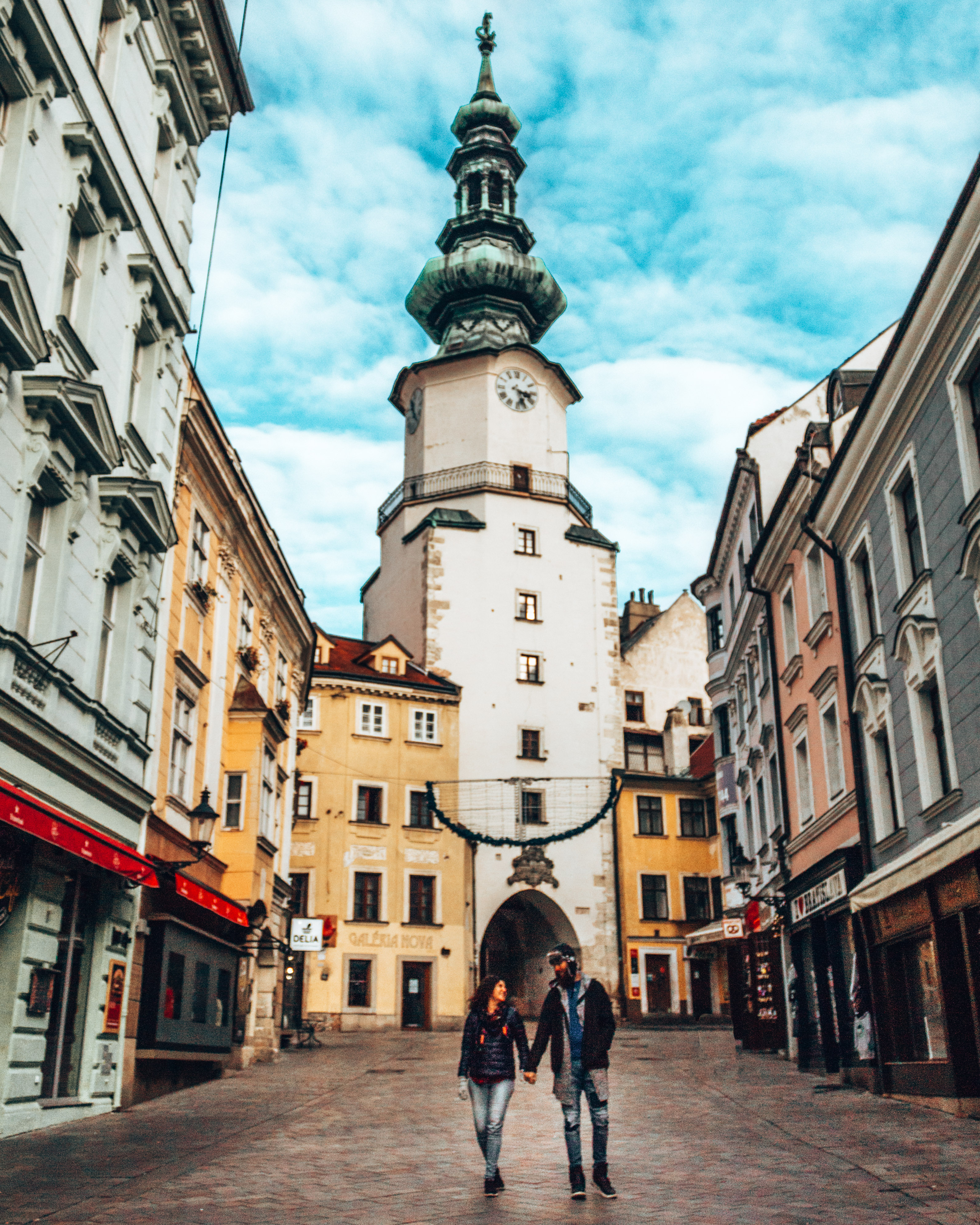 Walking through the streets of Bratislava