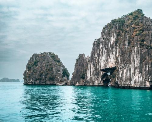 Karsts in Halong Bay Vietnam