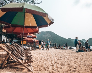 Ti Top beach Halong Bay Vietnam