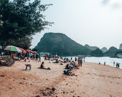 Ti Top beach Halong Bay Vietnam